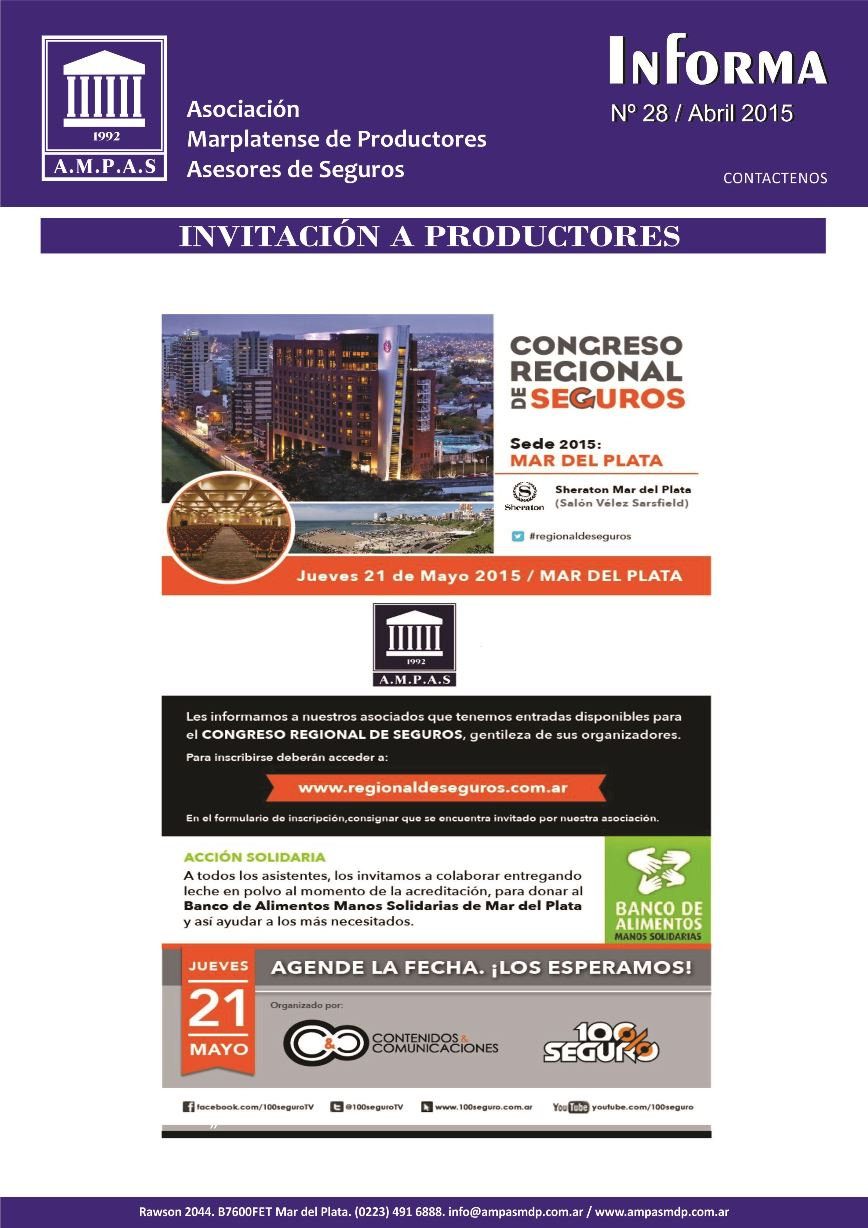 Newsletters 28 - Abril 20152